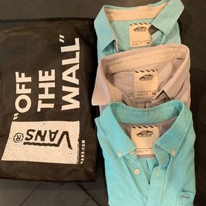 VANS LOT OF BUTTON-UP SHIRTS!!